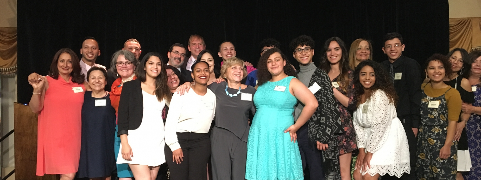 Latino Scholarship Fund high school graduates in group photo at the 2017 banquet.